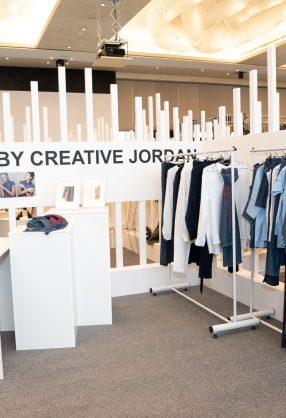 AMMAN, JORDAN - MARCH 29:  Designs by Jo! By Creative Jordan are displayed at Jordan Fashion Week 019 at the Kempinski Amman on March 29, 2019  in Amman, Jordan.  (Photo by Arun Nevader/Getty Images for Jordan Fashion Week)