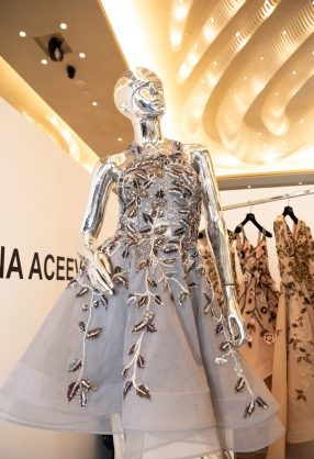 AMMAN, JORDAN - INVALID DATE Invalid date:  Designs by Tatyana Aceeva are displayed at Jordan Fashion Week 019 at the Kempinski Amman on March 29, 2019 in Amman, Jordan (Photo by Arun Nevader/Getty Images for Jordan Fashion Week)