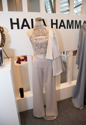 AMMAN, JORDAN - MARCH 29:  Designs by Hala Hammad are displayed at Jordan Fashion Week 019 at the Kempinski Amman on March 29, 2019 in Amman, Jordan (Photo by Arun Nevader/Getty Images for Jordan Fashion Week)