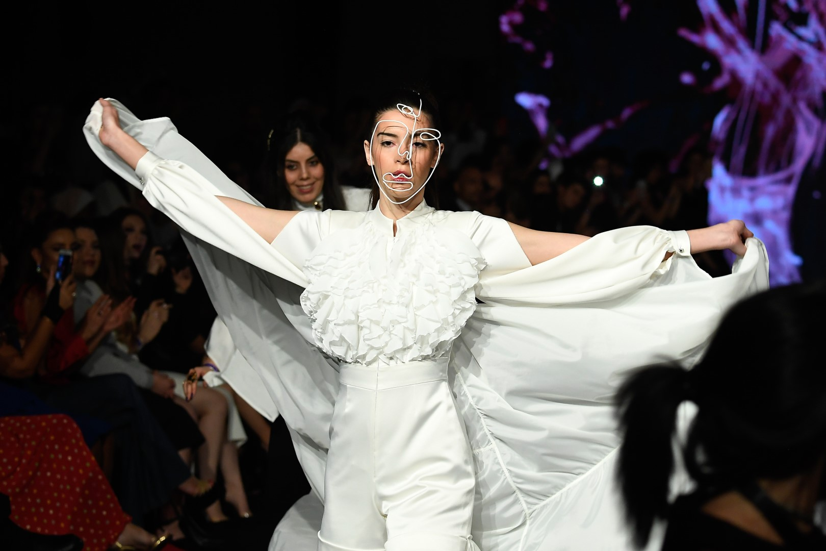 AMMAN, JORDAN - MARCH 30: A model walks the runway at the Lindt Chocolate Couture show during Jordan Fashion Week 019 at the Kempinski Amman on March 30, 2019 in Amman, Jordan. (Photo by Arun Nevader/Getty Images for Jordan Fashion Week)