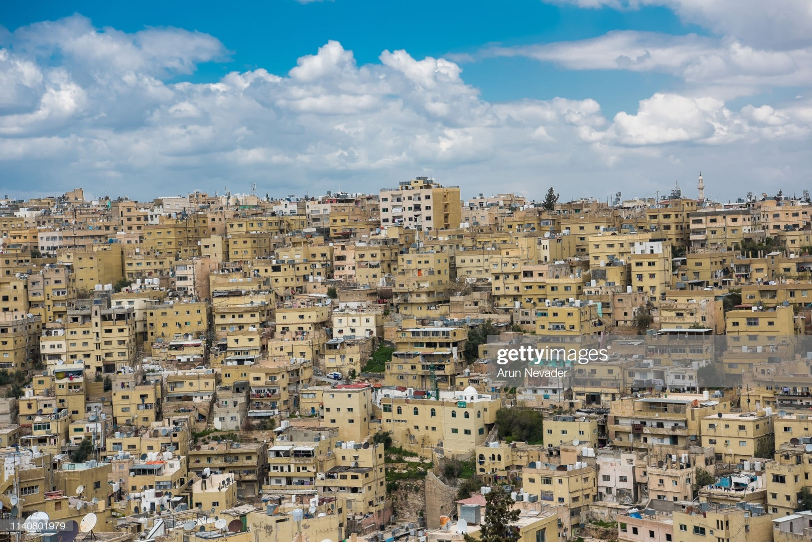 AMMAN, JORDAN - APRIL 02: A view of the city on April 2, 2019 in Amman, Jordan. (Photo by Arun Nevader/Getty Images for Jordan Fashion Week)