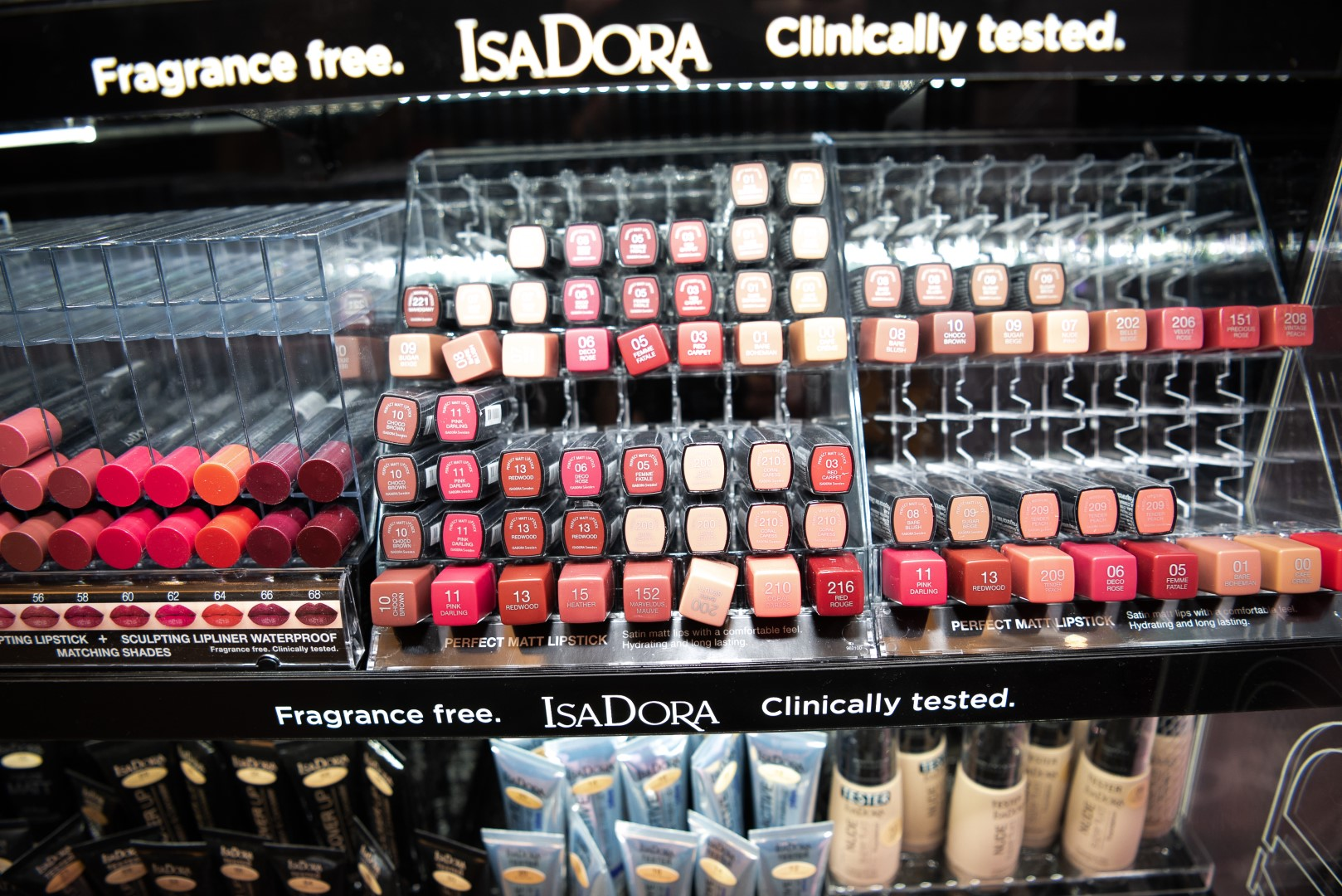AMMAN, JORDAN - INVALID DATE Invalid date: A booth sponsored by IsaDORA cosmetics is displayed at Jordan Fashion Week 019 at the Kempinski Amman on March 29, 2019 in Amman, Jordan (Photo by Arun Nevader/Getty Images for Jordan Fashion Week)