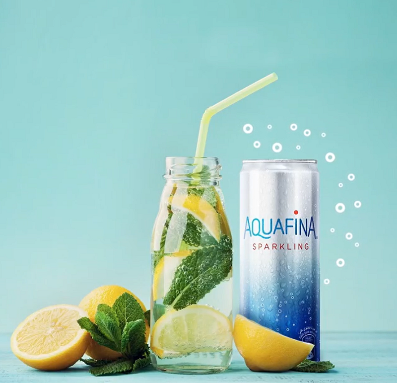Quench your thirst with Aquafina Sparkling Water