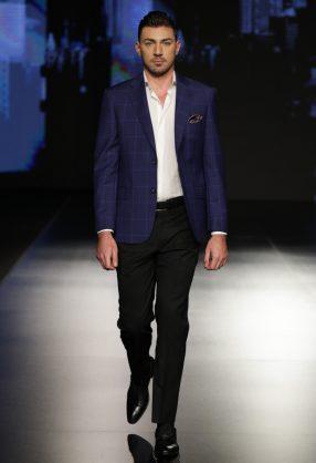AMMAN, JORDAN - MARCH 29: A model walks the runway at the ZAY runway show during Jordan Fashion Week 019 at the Kempinski Amman on March 29, 2019 in Amman, Jordan. (Photo by Thomas Concordia/Getty Images for Jordan Fashion Week)