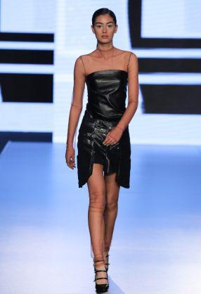 AMMAN, JORDAN - MARCH 30: A model walks the runway at the WENIN show during Jordan Fashion Week 019 at the Kempinski Amman on March 30, 2019 in Amman, Jordan. (Photo by Thomas Concordia/Getty Images for Jordan Fashion Week)