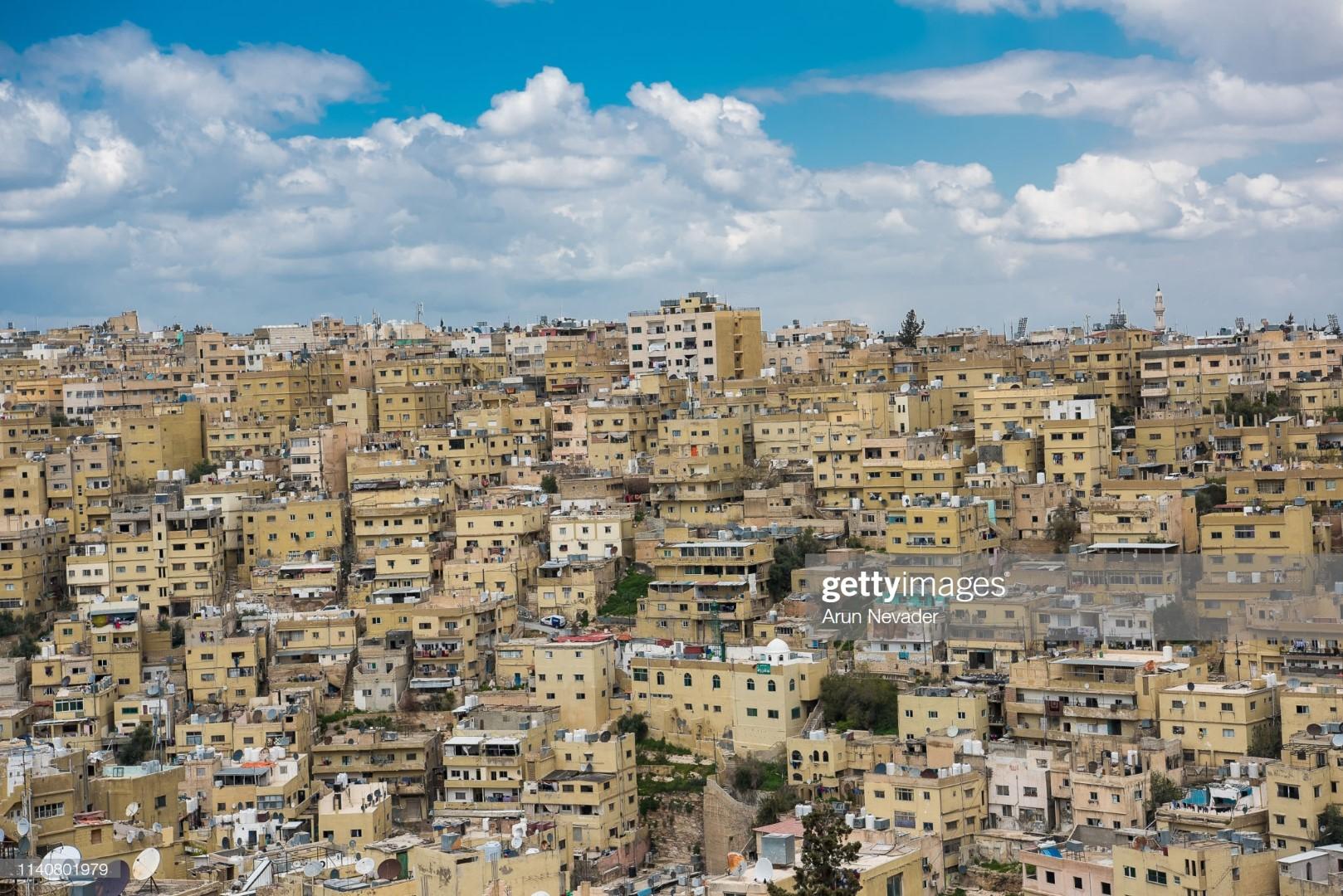 AMMAN, JORDAN - APRIL 02: A view of the city on April 2, 2019 in Amman, Jordan. (Photo by Arun Nevader/Getty Images for Jordan Fashion Week)